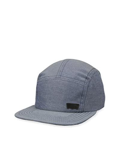 Levi's Men's Chambray with Leather Trim Hat, Blue