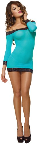 dreamgirl-womens-stretch-mesh-dress-turquoise-black-one-size