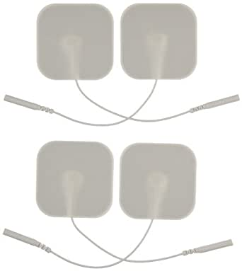 "3B Scientific W63201 Comfort-Stim Elite White Foam Electrodes, 2"" Length x 2"" Width"