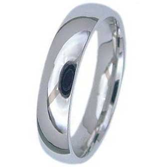 5MM High Polished Stainless Steel Wedding Band