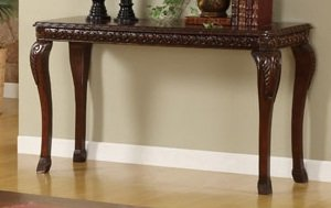 Cheap Craft Antique Dark Cherry Finish Console Table (F6229)