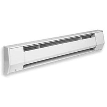 King 2K2405BW 500-375-Watt 240/208-Volt 27-Inches Baseboard Heater, Bright White