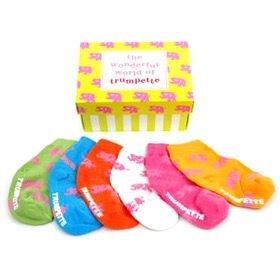 'Elephant' Baby Socks (Set of 6) - Buy 'Elephant' Baby Socks (Set of 6) - Purchase 'Elephant' Baby Socks (Set of 6) (Trumpette, Trumpette Apparel, Trumpette Toddler Girls Apparel, Apparel, Departments, Kids & Baby, Infants & Toddlers, Girls, Underwear & Socks)