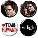 "Team Edward Twilight Mini Buttons/Pins/Badges 1"" - set of 4"
