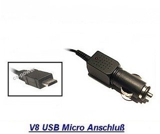 V8 KFZ Ladekabel mit USB Micro Stecker USB Ersatz KFZ AUTO PKW LKW NKW Car Charger Ladeteil / Ladegerät / Ladekabel passend für HTC 7 Mozart / 7 Trophy / Bravo / Buzz / ChaCha / Desire / Desire HD / Desire S / Desire US / Desire Z / Dragon / Droid Eris / Eris / Flyer / Gratia / HD Mini / HD2 / HD7 / Incredible S / Legend / Leo / Leo 100 / Nexus One / Passion / Salsa / Sensation / Vision / Wildfire / Wildfire S / Ersatzt für HTC TC-E150