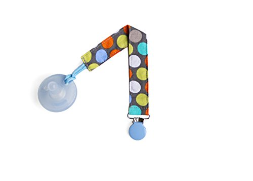Sister Chic Binki Band Pacifier Clip, Diddly Dot