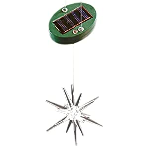 Click to buy Outdoor Christmas Lights: Clear Lucite Star Solar Powered Light Outdoor Ornament from Amazon!