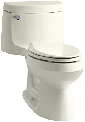 Kohler K-3828-96 Cimarron Comfort Height Elongated Toilet, Biscuit, 1-Piece
