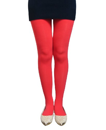 Opaque Stretch Solid Footed Tights a Solid Full