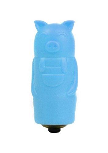 Shots Toys Bullet Blue Sleeve Slender Pig 1-Speed Vibrator