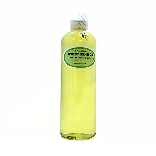 Apricot Kernel Oil Organic Pure Cold Pressed by Dr.Adorable 12 Oz