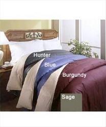Classic Reversible Blue/Khaki F/Q Color Down Comforter