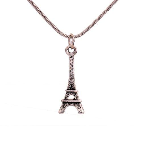 K-Design :Yazilind Jewelry Vintage Tibetan Silver Eiffel Tower Shape Pandent Necklace