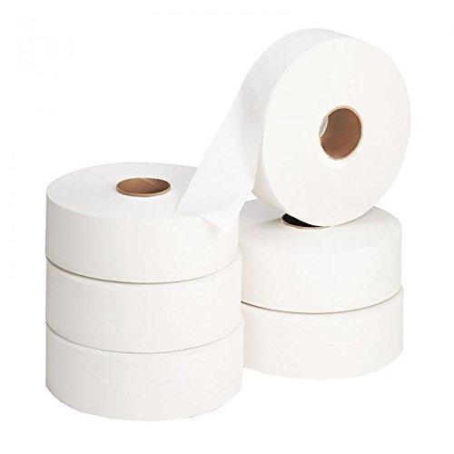 Rouleaux papier toilette jumbo 2 épaisseurs - Standard - 300 mètres lot X6