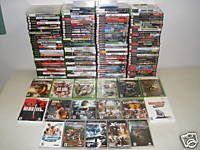 140 VIDEO GAME LOT PS3 PS2 XBOX 360 NINTENDO Wii PSP GC