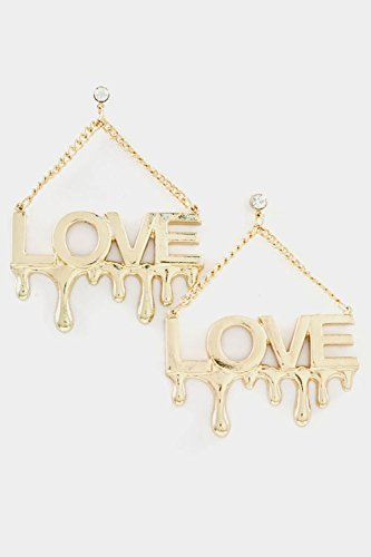 Karmas Canvas Love Dangle Earring (Gold) front-1011689