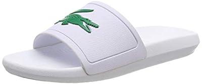 [ラコステ] サンダル メンズスポーツ Croco Slide ホワイトグリーン 白 Cma0018 082 クロコダイル ワニ