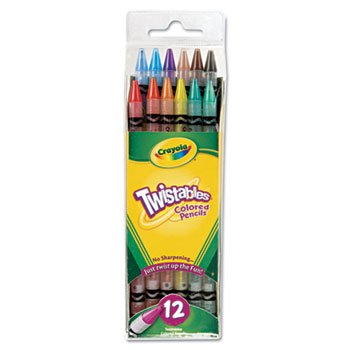 6 Pack Twistables Colored Pencils, 12 Assorted Colors/Pack by BINNEY & SMITH / CRAYOLA (Catalog Category: Paper, Pens & Desk Supplies / Art & Drafting)