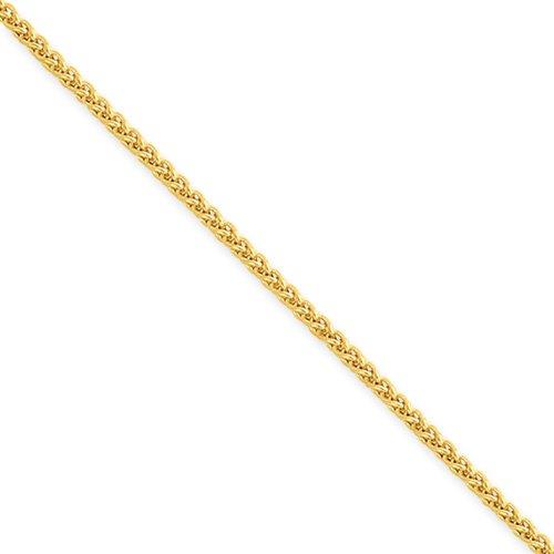 24 Inch 14k Gold Wheat Chain