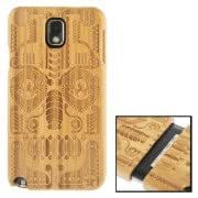Woodcarving National Style Symmetry Pattern Detachable Bamboo Material Case for Samsung Galaxy Note III / N9000