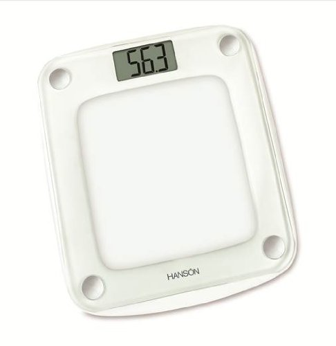 Hanson 12119 Neva Glass Electronic Bathroom Scale