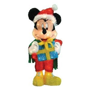 Yard art online stores disney 32 mickey mouse w santa for Decoration noel mickey