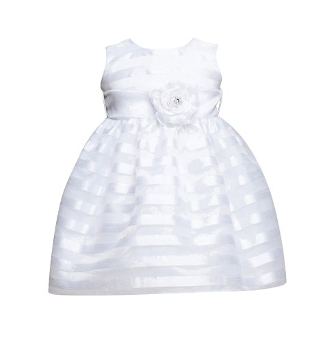 Classy 960 Baby Special Occasion Dress - White 6/9M front-990243