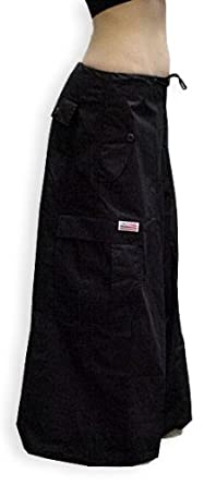 "Unisex 40 "" Wide Leg UFO Pants (Black) (Small (30-32 inch Waist))"