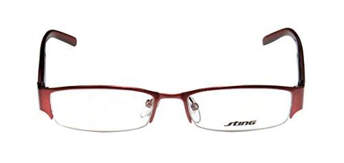 Sting 4774 Mens/Womens Designer Half-rim Eyeglasses/Eyeglass Frame (51-16-140, Bordeaux / Black / Red Pattern) (25 Steam Wallet Card compare prices)