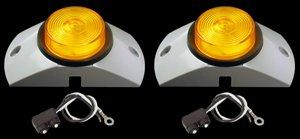 """2.5"""" Amber Led Semi Truck Trailer Marker Lights Kit"""