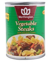 Worthington Vegan Vegetable Steaks -- 1.4 Lbs