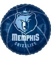 "Single Source Party Supplies - 18"" NBA Memphis Grizzlies Basketball Mylar Foil Balloon."