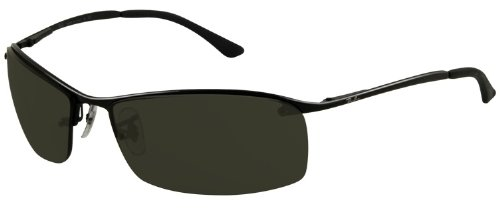 Ray-Ban RB3183 Sunglasses 63 mm, Non-Polarized, Black/Grey And Green