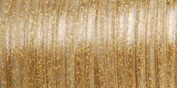 Big Save! Pepperell Rexlace Plastic Craft Lace, 3/32-Inch Wide, Gold Sparkle