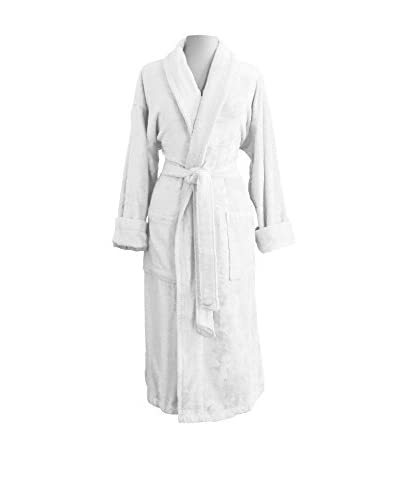 Luxor Linens Anini Rayon from Bamboo & Cotton Spa Robe  [White]