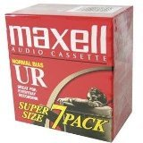 Maxell UR-90 Blank Audio Cassette Tape, 7 Pack
