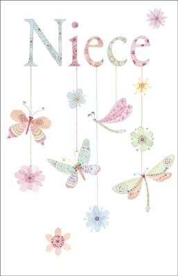 Niece, Birthday Greetings Card