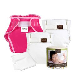 Kushies Classic Cloth Diaper Gift Set for Girls - Infant