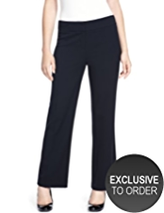 Petite Welt Pocket Wide Waistband Trousers