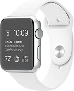 Apple 42 mm Aluminium Case Watch with White Sports Strap - Silver