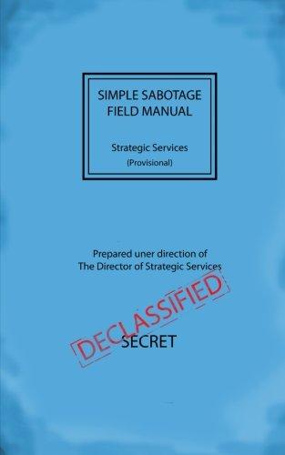 Simple Sabotage Field Manual PDF