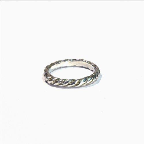 Kiel Mead-Large Rope Ring Silver - 4