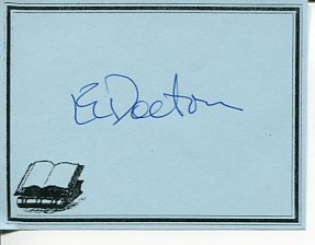 E. L. EL Doctorow Billy Bathgate Ragtime Author Signed Autograph Bookplate - Memorabilia