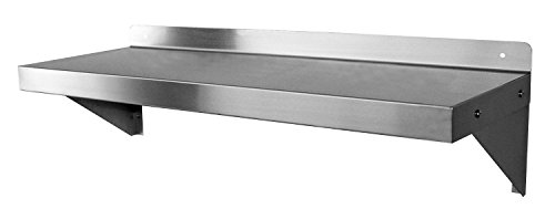 GSW Stainless Steel Commercial Wall Mount Shelf, 14 by 36-Inch, NSF