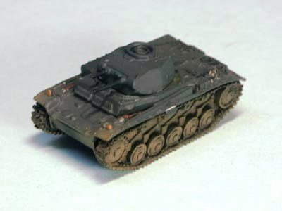 ドイツ軍 �U号戦車 軽戦車 F型 単色迷彩(ジャーマングレイ)