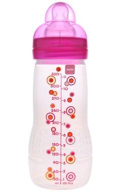 Mam Bottles Bpa Free W/Silk Nipple - 11 Oz (Single Pack) (Pink) front-1008747