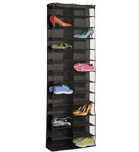 26 Pair Over the Door Shoe Rack (Black) (63