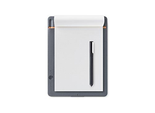 【ワコム】スマートパッド Bamboo Slate small(A5対応)ミディアムグレー ボールペンで好みの紙に書いて、デジタル形式のメモを作成 CDS610S
