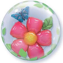 "PIONEER BALLOON COMPANY Leaves Flower Bubble Foil Pack, 24"", Multicolor"