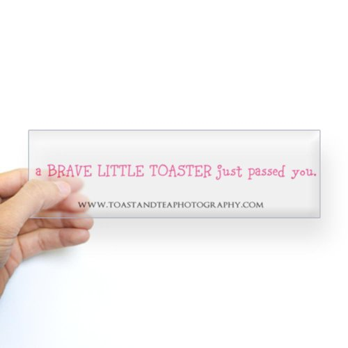 CafePress Sticker (Bumper) - toaster passing you Bumper Sticker - Clear
